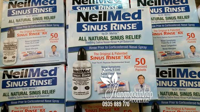 Bộ rửa mũi NeilMed Sinus Rinse bình 240ml + 50 gói muối Mỹ 1