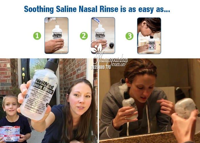 Bộ rửa mũi NeilMed Sinus Rinse bình 240ml + 50 gói muối Mỹ 2