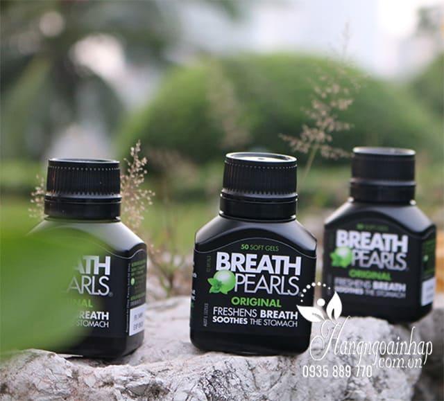 Viên ngậm thơm miệng Breath Pearls 50 viên của Úc