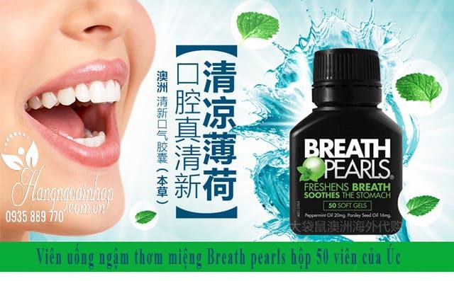 Viên ngậm thơm miệng Breath Pearls 50 viên của Úc 1
