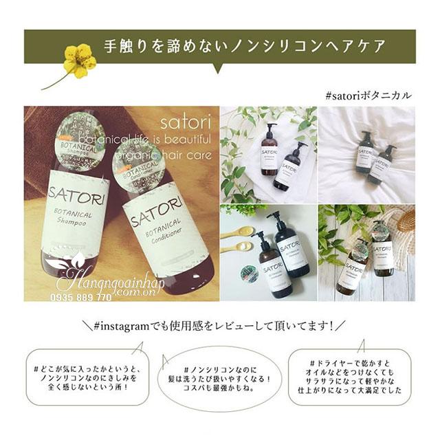 Bộ dầu gội xả thực vật Botanits Satori Botanical 480ml của Nhật 10