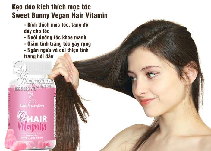 Kẹo dẻo kích thích mọc tóc Sweet Bunny Vegan Hair Vitamin 3