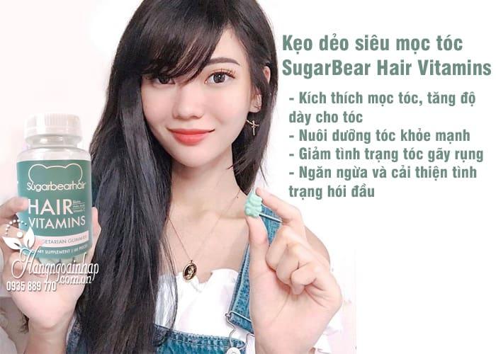 Kẹo dẻo siêu mọc tóc SugarBear Hair Vitamins của Mỹ 60 viên 3