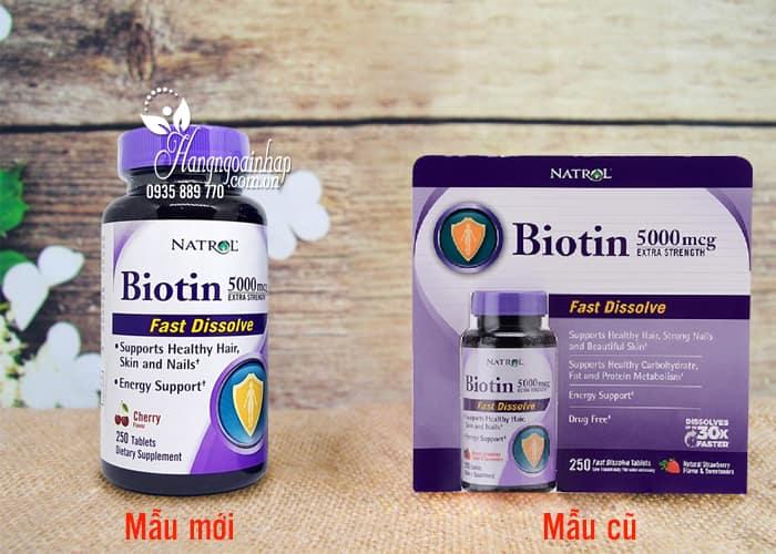 Thuốc mọc tóc Biotin 5000mcg Fast Dissolve Natrol của Mỹ 250 viên 1