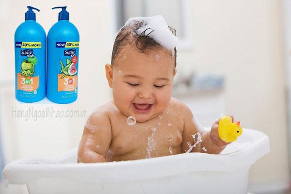 Sữa Tắm, Gội Và Xả Cho Trẻ Em Suave Kids 3 In 1 Của Mỹ