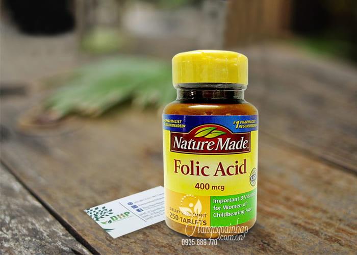 Viên uống bổ sung Folic Acid 400mcg Nature Made 250 viên 1