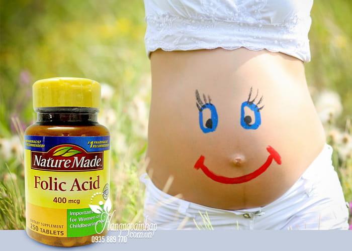 Viên uống bổ sung Folic Acid 400mcg Nature Made 250 viên 2