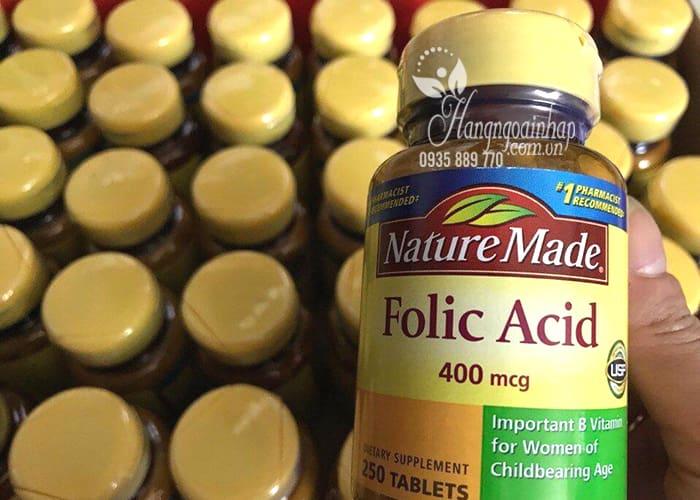 Viên uống bổ sung Folic Acid 400mcg Nature Made 250 viên 5