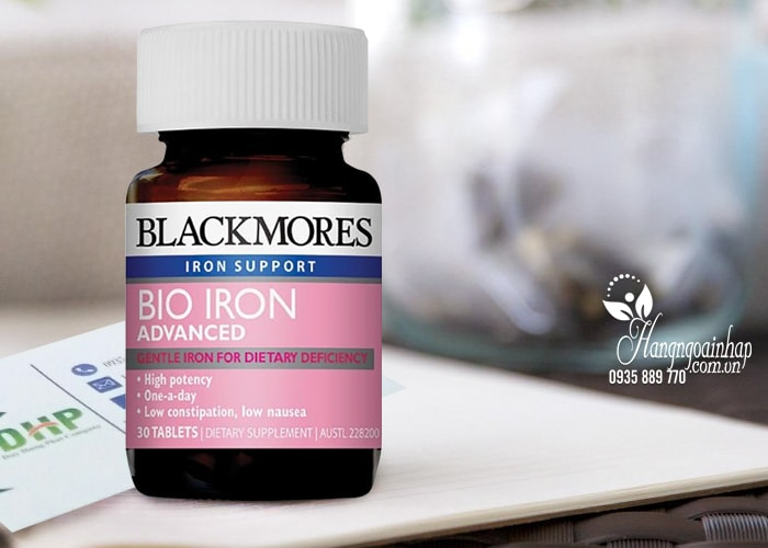 Viên uống bổ sung sắt cho bà bầu Blackmores Bio Iron Advanced 30 viên