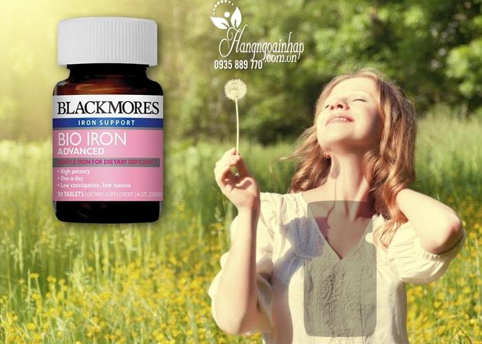 Viên uống bổ sung sắt cho bà bầu Blackmores Bio Iron Advanced của Úc 30 viên