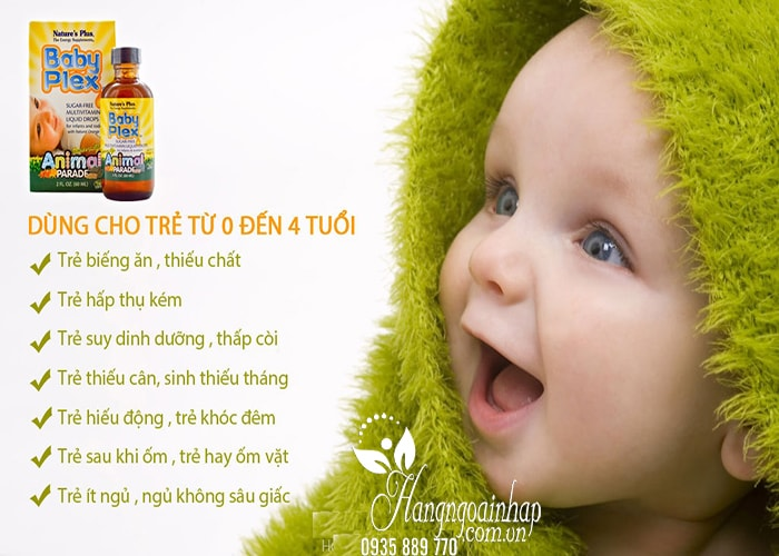 Vitamin cho bé Natures Plus Baby Plex Animal Parade 60ml của Mỹ (5)