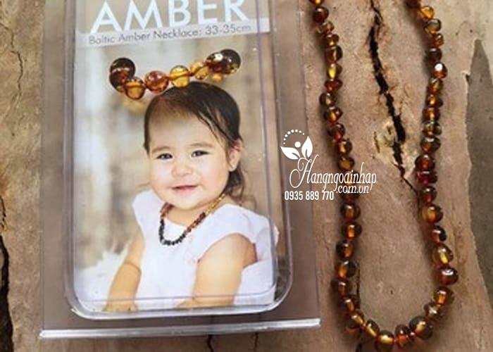 Vòng hổ phách cho bé Little Smile Amber của Úc 3