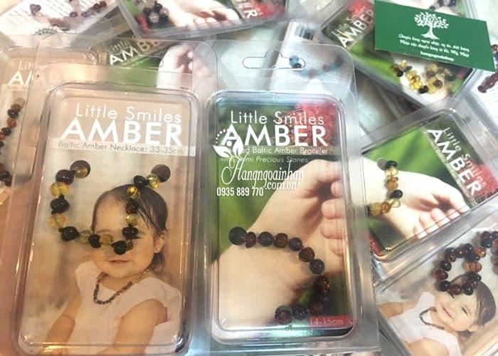 Vòng hổ phách cho bé Little Smile Amber của Úc 4