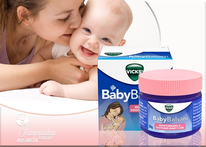 dầu bôi giữ ấm cho trẻ Vicks Baby Balsam 50g Của Đức