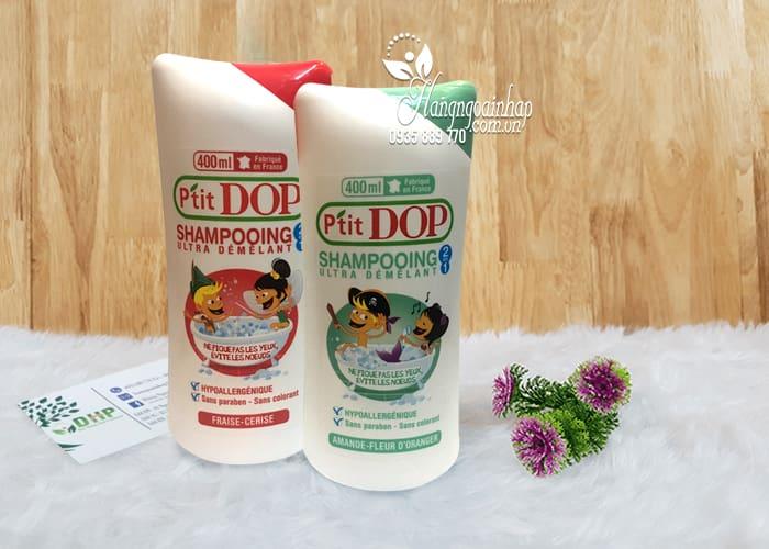 Dầu gội xả 2 in 1 cho bé P'Tit Dop Shampooing 400ml của Pháp 1