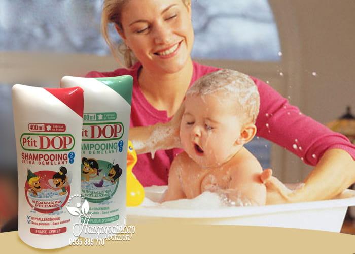 Dầu gội xả 2 in 1 cho bé P'Tit Dop Shampooing 400ml của Pháp 2