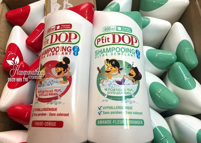 Dầu gội xả 2 in 1 cho bé P'Tit Dop Shampooing 400ml của Pháp  7