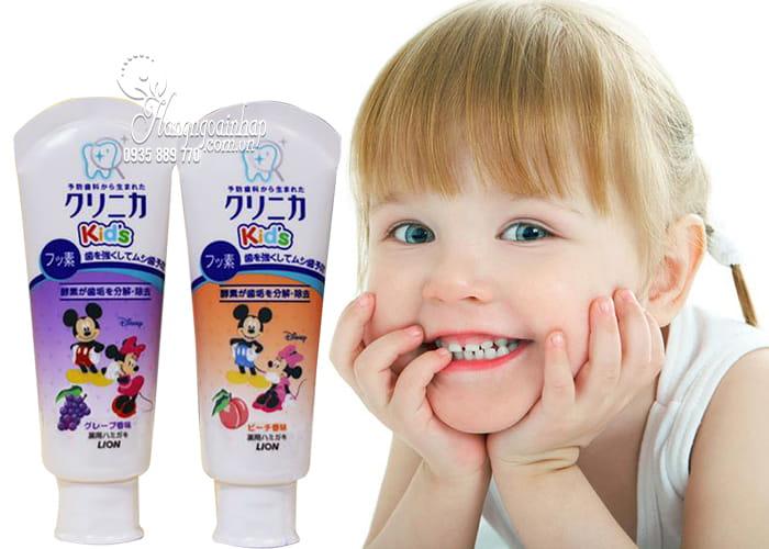 Kem đánh răng Lion 60g Nhật Bản dành cho trẻ em 4