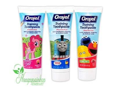 Kem đánh răng Orajel Training Toothpaste nuốt được cho trẻ em 42,5g