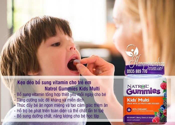 Kẹo dẻo bổ sung vitamin cho trẻ em Natrol Gummies Kids Multi 2