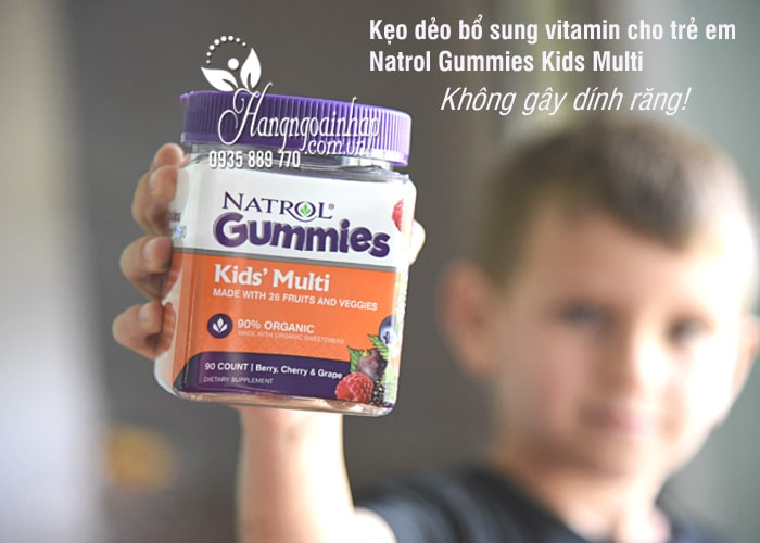 Kẹo dẻo bổ sung vitamin cho trẻ em Natrol Gummies Kids Multi 1