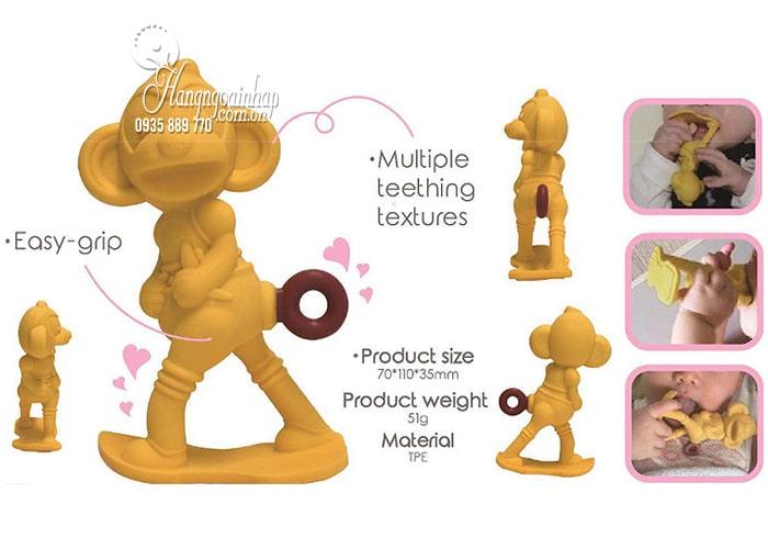 Ngậm nướu hình con khỉ Monkey Teether cho bé của Nhật Bản 3