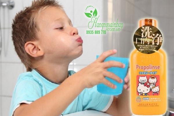 Nước súc miệng Propolinse Hello Kitty dành cho trẻ em của Nhật