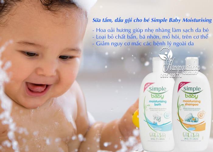 Sữa tắm, dầu gội cho bé Simple Baby Moisturising 300ml 2