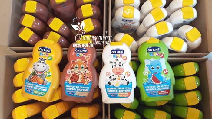 Sữa tắm gội cho bé 2 in 1 On Line Kids không gây cay mắt 1