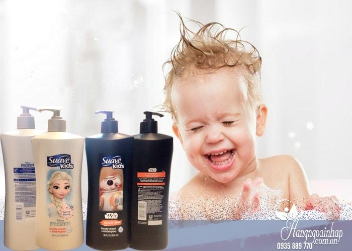 Sữa tắm gội cho bé Suave Kids Body Wash and Shampoo 828ml của mỹ