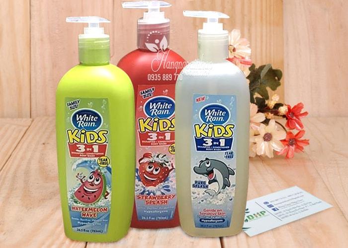 Sữa tắm gội xả cho bé White Rain Kids 3 in 1 783ml của Mỹ (1)