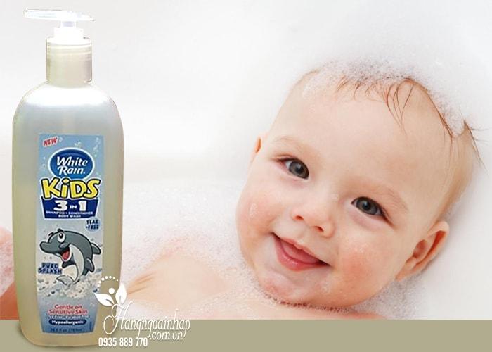 Sữa tắm gội xả cho bé White Rain Kids 3 in 1 783ml của Mỹ (2)