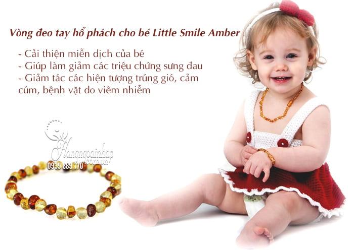Vòng đeo tay hổ phách cho bé Little Smile Amber của Úc 3