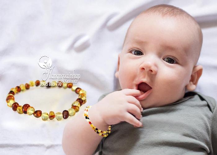 Vòng đeo tay hổ phách cho bé Little Smile Amber của Úc 4