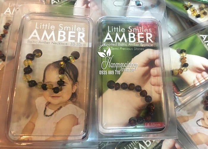 Vòng đeo tay hổ phách cho bé Little Smile Amber của Úc 5