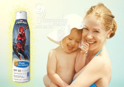 Xịt chống nắng cho bé Spider Man Disney của Mỹ 177ml