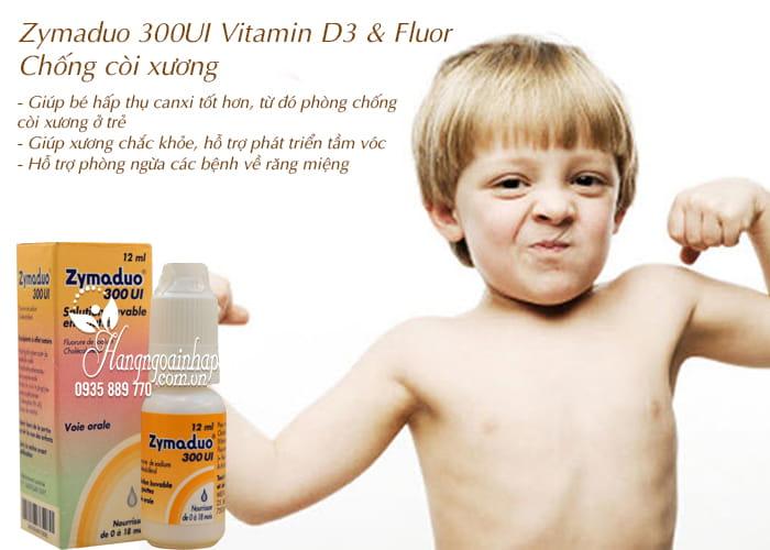 Zymaduo 300UI Vitamin D3 & Fluor 12ml - Chống còi xương 3