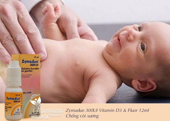 Zymaduo 300UI Vitamin D3 & Fluor 12ml - Chống còi xương 2