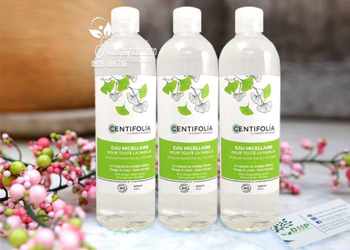 Nước tẩy trang rau má Centifolia Eau Micellaire 500ml của Pháp