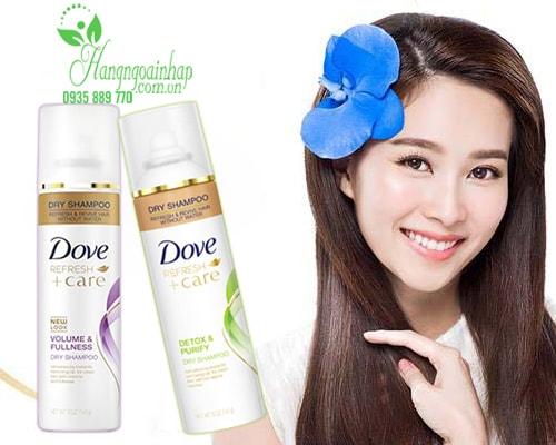 Dưỡng tóc với dầu gội Dry Shampoo Dove Hair Therapy Refresh Care