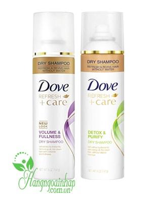 Dầu Gội Xịt Khô Dry Shampoo Dove Hair Therapy Refresh Care