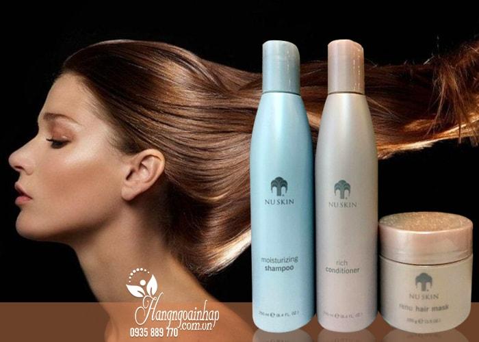 Bộ 3 sản phẩm dầu gội, xả và kem ủ tóc Nuskin Moisturizing của mỹ