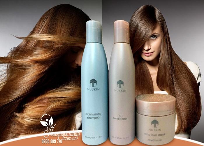 Bộ 3 sản phẩm dầu gội, xả và kem ủ tóc Nuskin Moisturizing cho tóc suôn mượt