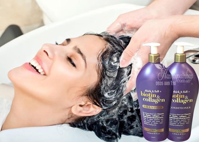Bộ dầu gội xả Biotin & Collagen OGX 1,18 lít ngăn rụng tóc 4