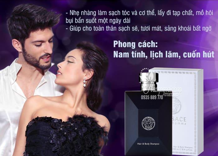 Sữa tắm gội nước hoa cho nam Versace Pour Homme 250ml 4