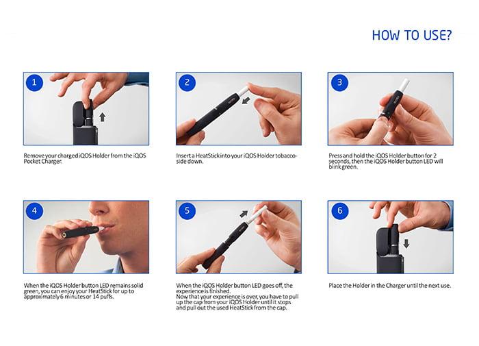 Cách sử dụng Máy hút thuốc lá điện tử IQOS Nhật Bản 2.4 Plus