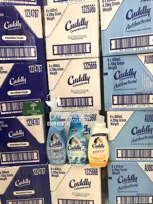 Nước xả vải đậm đặc Cuddly Úc chai nhỏ 450ml và 500ml 5