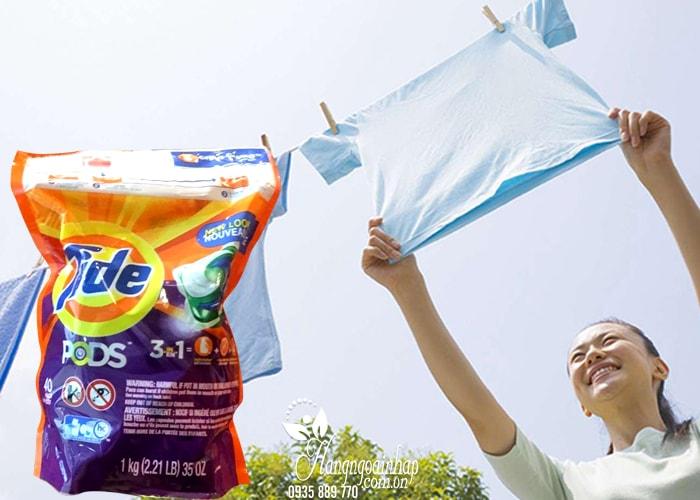 Viên giặt Tide Pods 3 in 1 40 viên của Mỹ