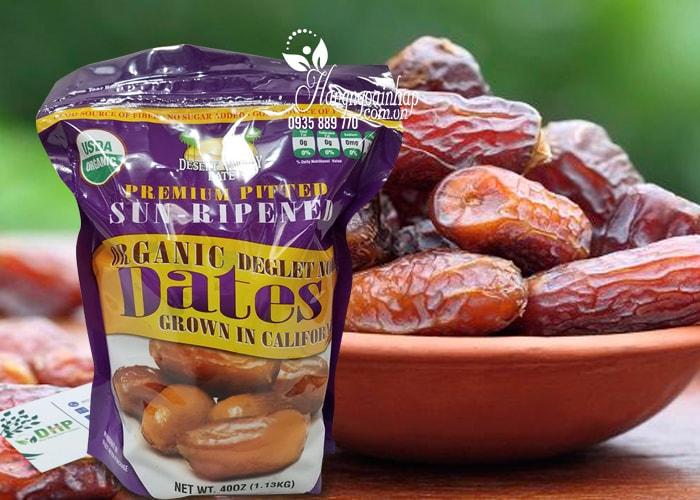 Chà là sấy khô Dates Organic Deglet Noor 1.13kg của Mỹ