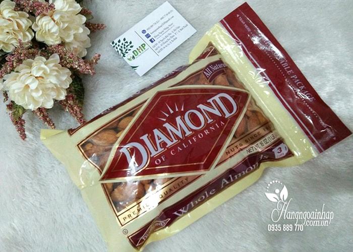 Hạnh nhân nguyên vỏ rang bơ Diamond Of California 453g của Mỹ